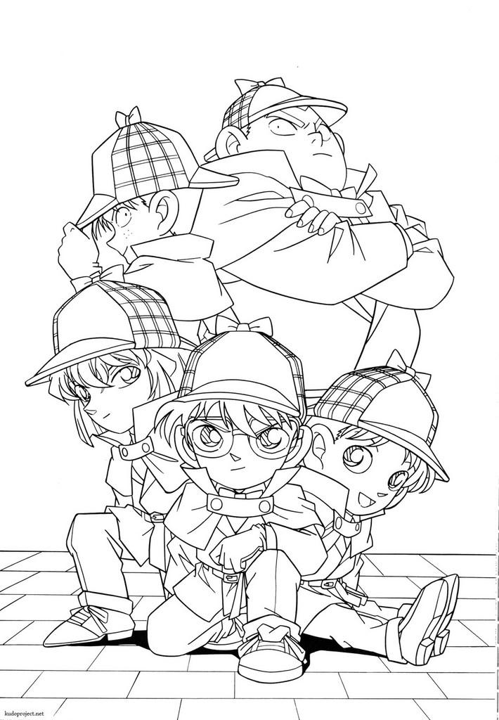 Shinichi detective conan coloring coloring coloring pages for Detective conan coloring pages